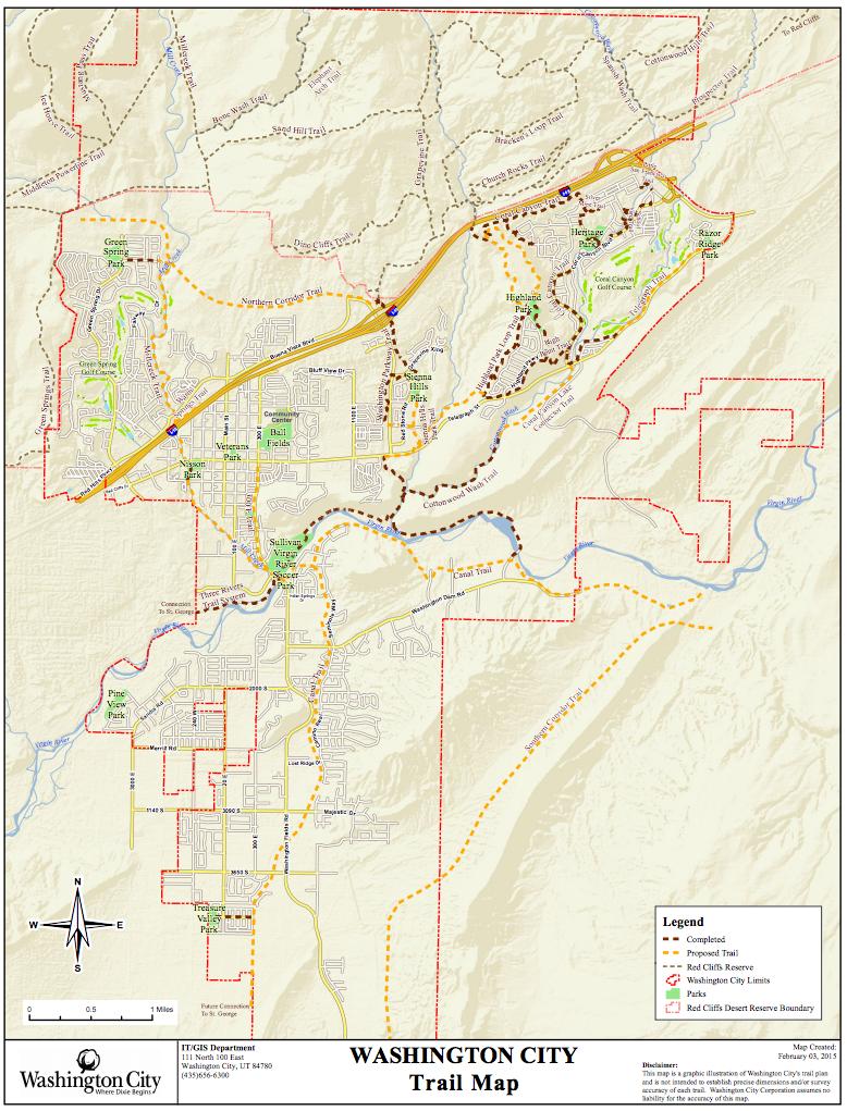 Washington City Trails Map StGeorgeNews.com