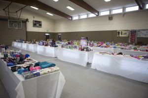 Gifts are lined up for SUU's Holiday Assistance Program, Cedar City, Utah, date unspecified | Photo courtesy of SUU, St. George News