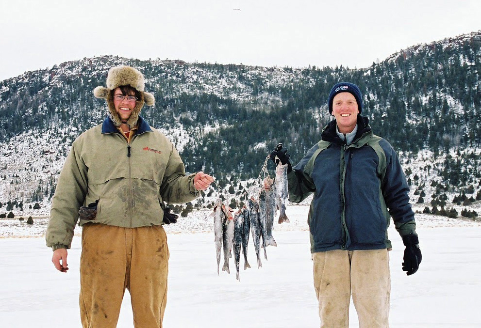 Fisherman show the fish they caught, location unspecified, Dec. 17, 2015 | Photo by Calvin Black, Utah Division of Wildlife Resources, St. George