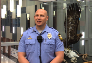 School Resource Officer Matt Schuman, of the St. George Police Department. Schuman is credited with saving the life of Megan Rowley, 14, was sent to the hospital after collapsing at Dixie Middle School and going into cardiac arrest. Schuman gave Megan CPR until the ambulance arrived, St. George, Utah, Dec. 11, 2015 | Photo courtesy of Fox 13 News, St. George News