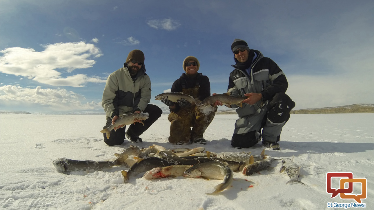 Find right depth to catch fish through ice southern utah for Utah fish finder