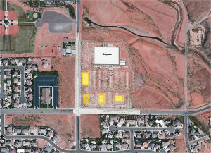 The site of the new Harmons Neighborhood Grocer being built in Santa Clara | Image courtesy of Santa Clara City, St. George News