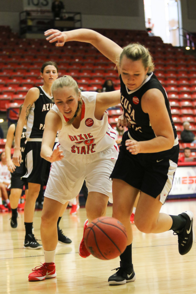 Dixie State vs Azusa Pacific, Girls Basketball, St George, Utah, Dec.19, 2015,   Photo by Kevin Luthy, St. George News