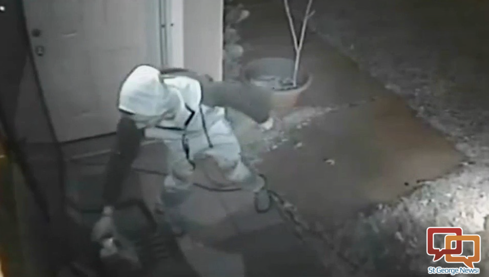 Caught On Camera St George Package Thief Steals Box Of