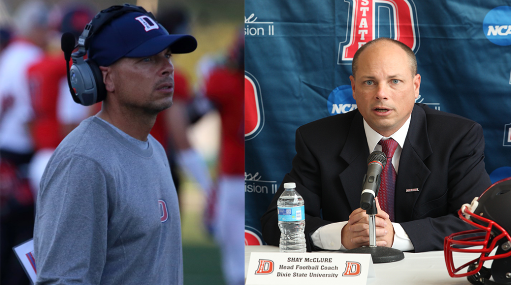 Dixie State announced the hiring of Shay McClure at a press conference Monday. | Photos by DSU Athletics