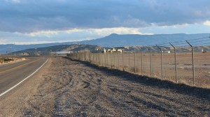 Beyond the fence lies the old St. George Municipal Airport, now known as the Ridge Top Complex. It will soon be the site of the new campus of Dixie Applied Technology College and a proposed technology and business park, St. George, Utah, Dec. 23, 2015 | Photo by Mori Kessler, St. George News