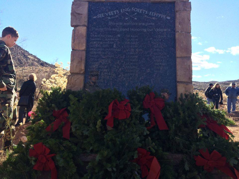 Wreaths Across America celebrated at the Shivwits Band of Paiutes Cemetery in this photo from 2015, Shivwits, Utah, Dec. 12, 2015 | Photo by Hollie Reina, St. George News