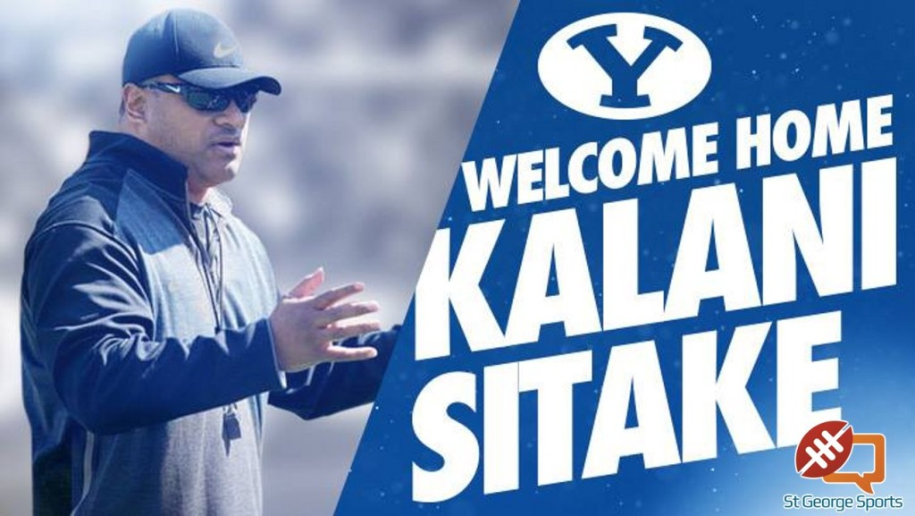 BYU released this graphic today after announcing Kalani Fifita Sitake as the university's new head football coach.