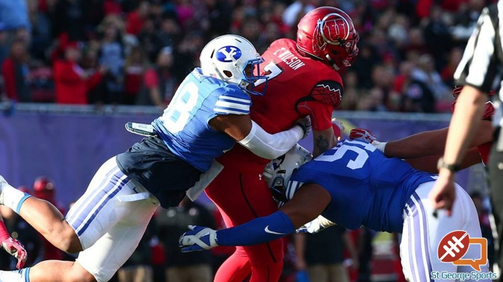 BYU vs. Utah, Las Vegas Bowl, NCAA college football game Saturday, Dec. 19, 2015, in Las Vegas. (Photo by BYU Photo)