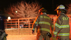 Firefighters respond to a house fire in the area of 1100 West and 1130 North in St. George, Utah, Jan. 15, 2016 | Photo by Mori Kessler, St. George News