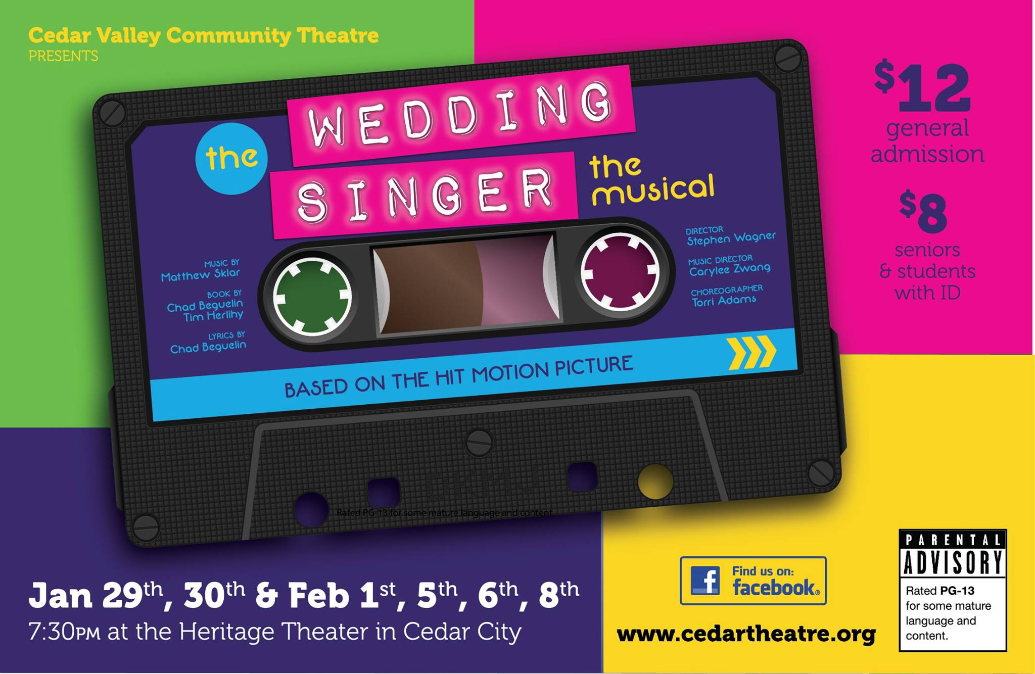 Flier For The Wedding Singer Musical Image Courtesy Of Cedar Valley