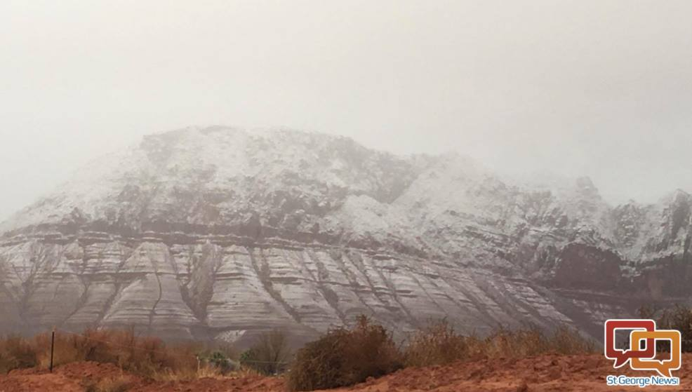 Lower Snow Canyon has snow, Ivins, Utah, Jan. 7, 2016 | Photo by Hollie Reina, St. George News