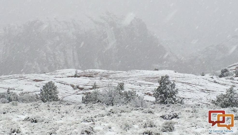 Upper Snow Canyon has snow, Ivins, Utah, Jan. 7, 2016 | Photo by Hollie Reina, St. George News