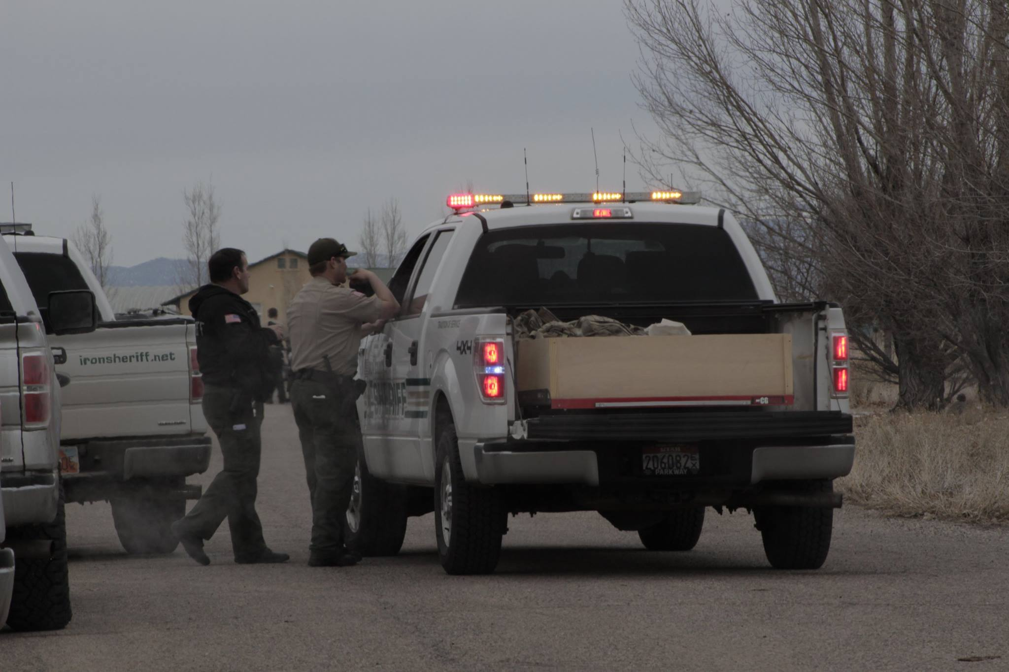 Multiple law enforcement agencies responded to a home on the 5341 N. 2900 West block of the Cedar Valley area of Cedar City Tuesday morning where a domestic dispute was reported by a neighbor and ended with a man found dead inside his home. Cedar City, Utah, Jan. 19, 2016   Photo by Carin Miller, St. George News / Cedar City News