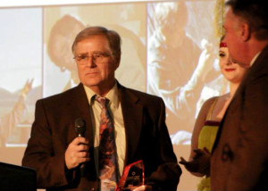 Man of the Year Martin Tyner accepts his award at the 65th Annual Best of Cedar City Awards Gala, Southern Utah University Ballroom, Cedar City, Utah, Jan. 20, 2016 | Photo by Carin Miller, St. George News