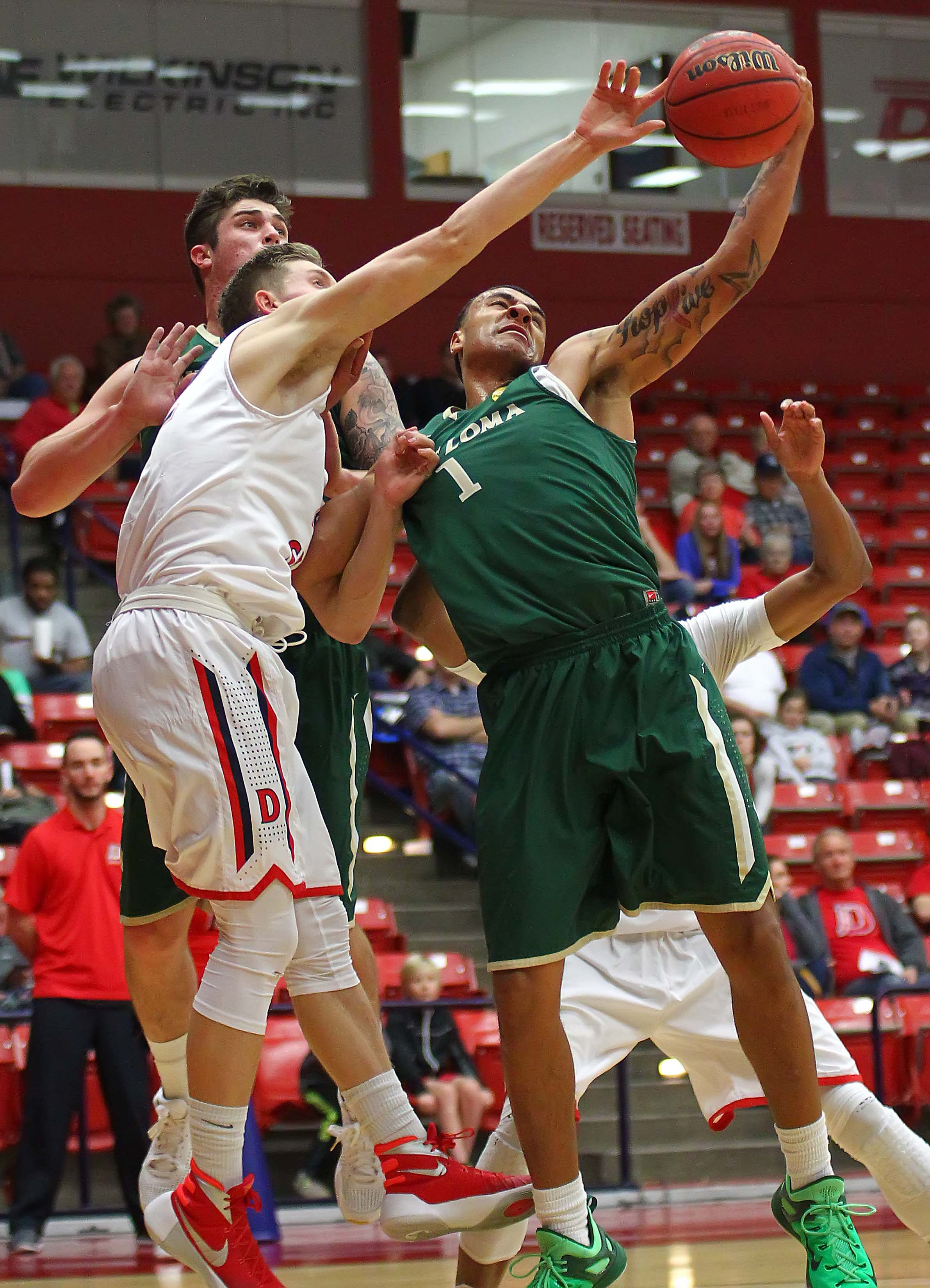 Dixie State's  Quincy Mathews (42), Dixie State University vs. Point Loma University, Mens Basketball, St. George, Utah, Jan. 18, 2016, | Photo by Robert Hoppie, ASPpix.com, St. George News