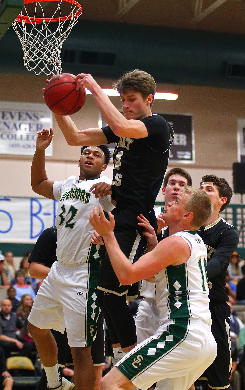 Desert Hills'  Tanner Turley (24), Snow Canyon vs. Desert Hills, Boys Basketball, St. George, Utah, Jan. 27, 2016, | Photo by Robert Hoppie, ASPpix.com, St. George News