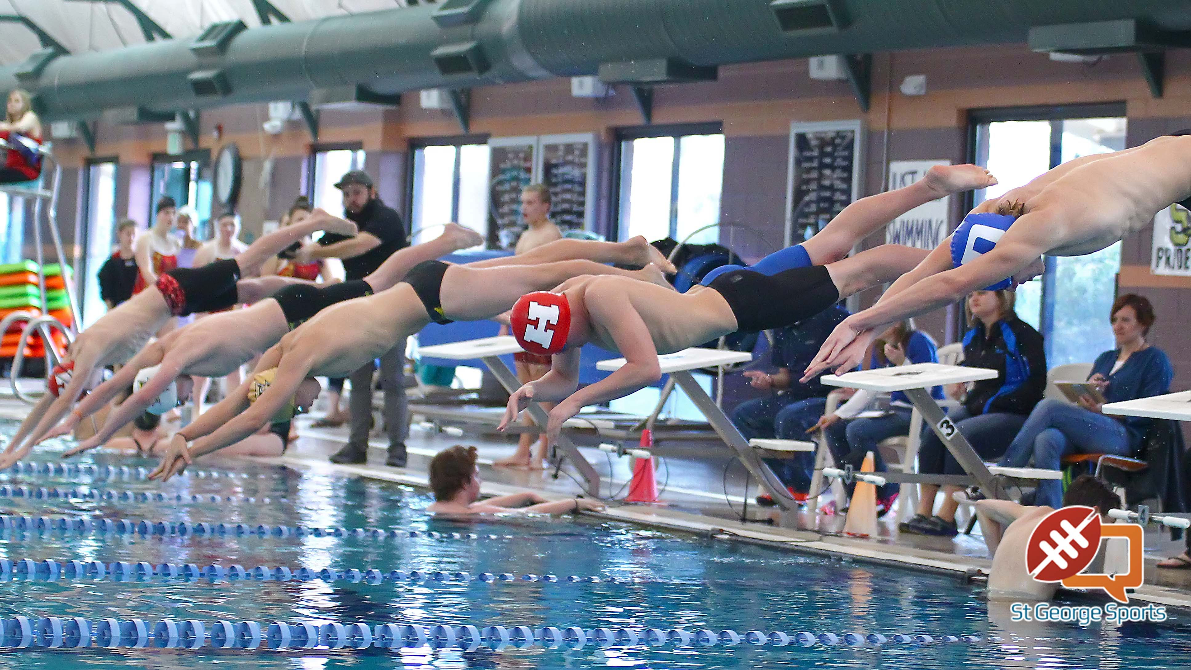 Region 9 Swimming Championships, St. George, Utah, Jan. 30, 2016, | Photo by Robert Hoppie, ASPpix.com, St. George News