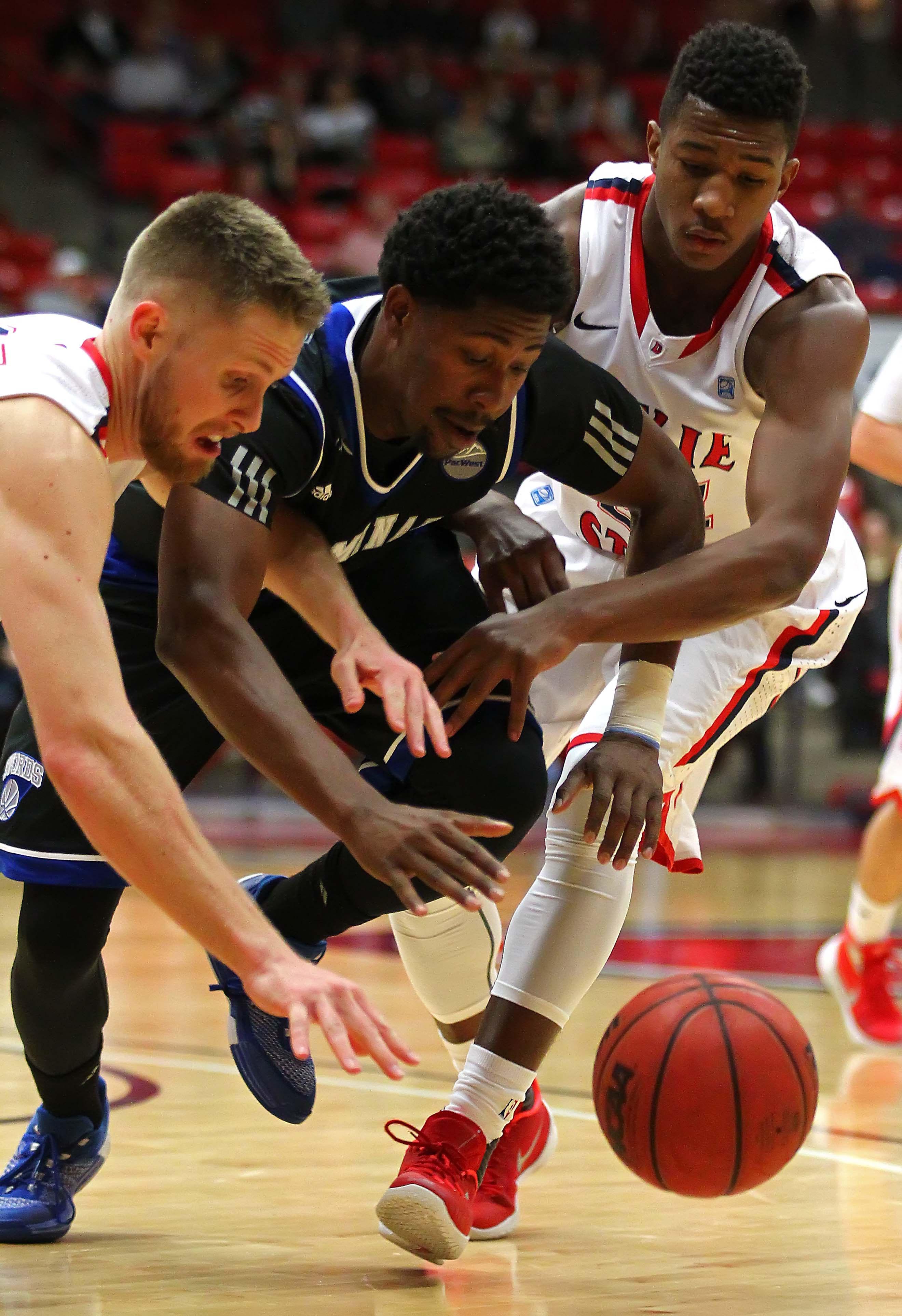 Dixie State University vs Chaminade University, Mens Basketball, St. George, Utah, Jan. 5, 2016,   Photo by Robert Hoppie, ASPpix.com, St. George News
