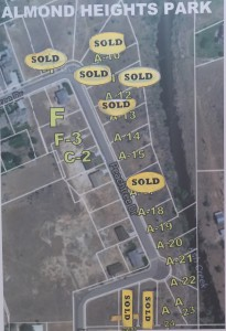 Plat map of available lots in Almond Heights, Toquerville, where Self-Help Homes' latest project will be located | Image courtesy Self-Help Homes, St. George News