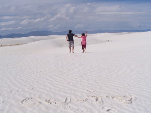 Caden and Jerika Scott at White Sands, New Mexico, date not specified | Photo courtesy Jerika and Caden Scott, St. George News