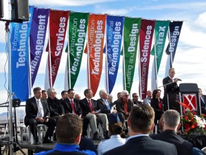 A groundbreaking Thursday celebrated the construction of a new building that will house all of Dixie Applied Technology College programs under one roof at the Ridge Top Complex, St. George, Utah, Jan. 14, 2016 | Photo by Julie Applegate, St. George News