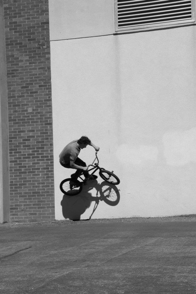 Derek Hoyt shows off his mad BMX skills, Cedar High School, Cedar City, Utah, 2014 | Photo courtesy of Kirsten Catella, St. George News