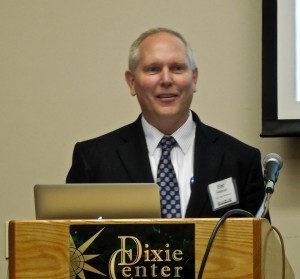 """Dixie State University Dean of Science and Technology Eric Pedersen discusses the """"tech pipeline"""" needed to fill high-tech jobs in the future, St. George, Utah, Jan. 14, 2016 