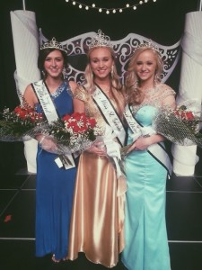 2015 Miss St. George Pageant winners from left to right: Dakota Stevens, First Attendant; Emily Theobald, Miss St. George; Madison Baldwin, Second Attendant, St. George, Utah, April 18, 2015, | Photo courtesy of Corrie Theobold, St. George News