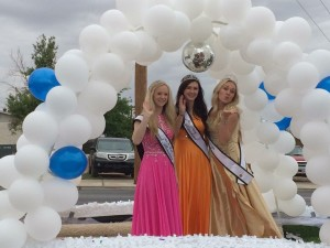 Miss St. George royalty 2015, event unknown. From left to right: Second attendant Madison Baldwin, First attendant Dakota Stevens, Miss St. George 2015 Emily Theobald, St. George, Utah, date unknown | Photo courtesy of Corri Theobald, St. George News