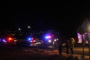 Police and emergency personnel responded to an accident on Washington Parkway and Telegraph St., Washington, Utah, Jan. 9, 2016 | Photo by Cody Blowers, St. George News