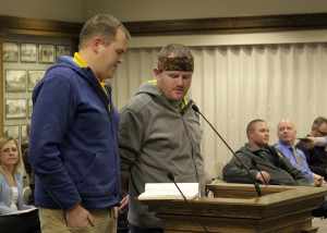 "Joe and Nathan Cowlishaw, ""The Coleslaw Bros.,"" present the Utah UFO Fest to City Council, Council Chambers, Cedar City, Utah, Jan. 27, 2016 
