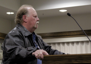 Cedar City resident Robert Barton makes a heartfelt plea to council to do something about the vandalism taking place in Cedar City Cemetery, , Cedar City Council Chambers, Cedar City, Utah, Jan. 06, 2016 | Photo by Carin Miller, St George News
