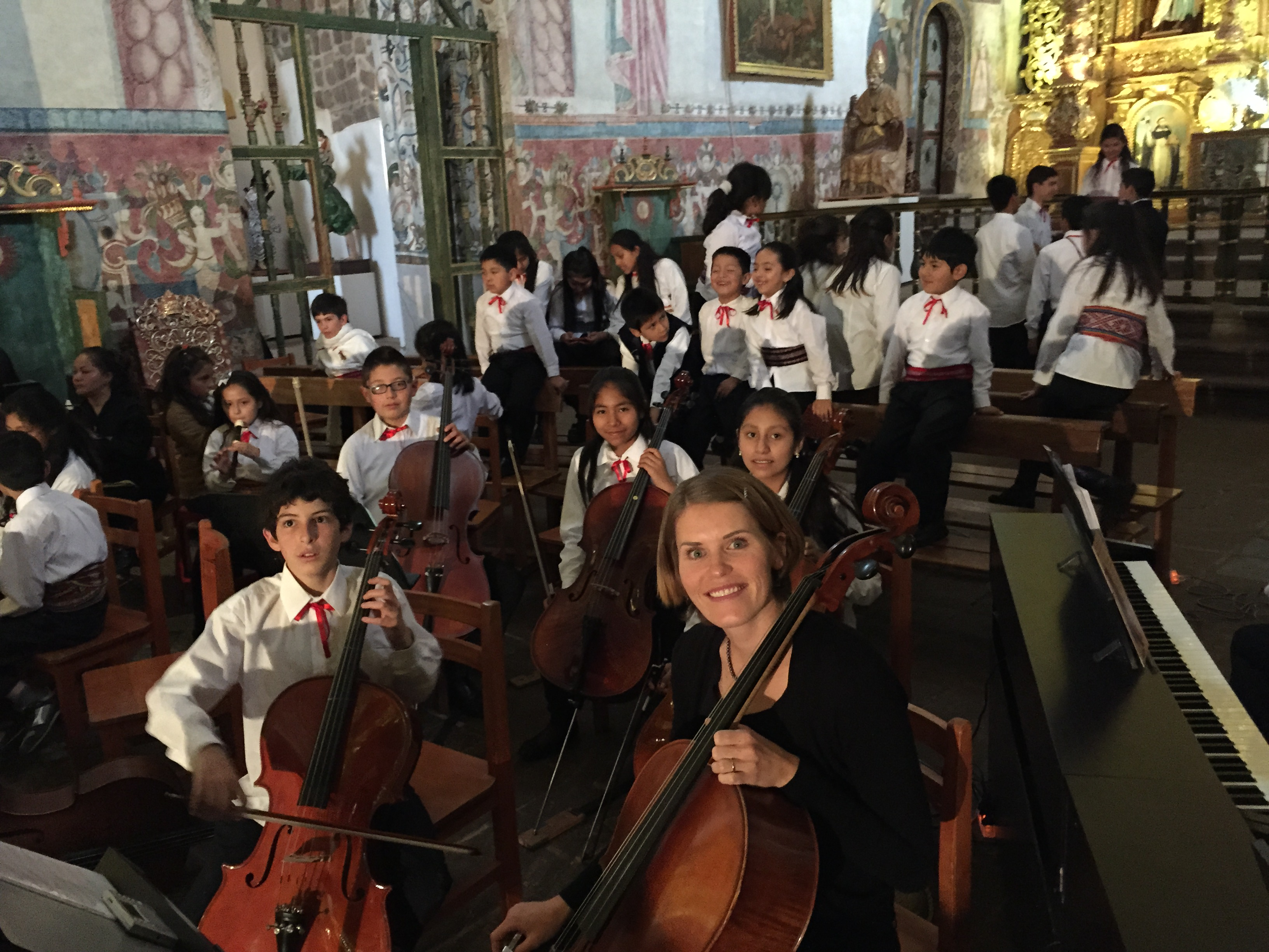 An orchestra concert with nearly all of the Peruvian string students at Qantu Cusco and cellist Megan Titensor, Cathedral of Cusco, Andahuaylillas, Peru, Dec 6, 2015 | Photo by Jerson Flores. St. George News