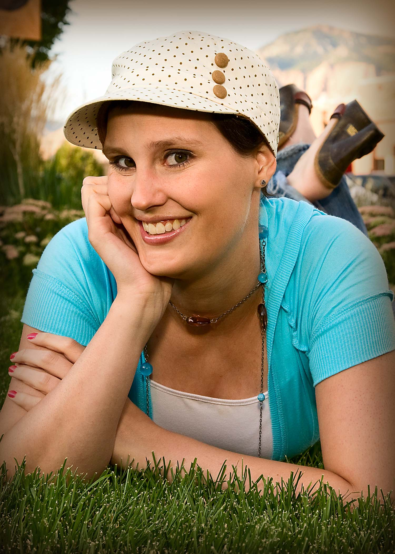 Natalie Jolley poses for the camera as her mother photographs, after diagnosis, Ogden, Utah, August 2009 | Photo courtesy of Marjean Jolley, St. George News