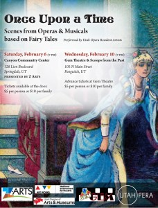 "Utah Opera ""Once Upon a Time"" flyer 