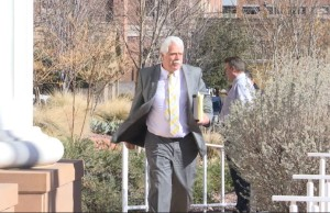 Attorney Gary Pendleton arrives at 5th District Court to represent Brian Stephens in falsifying a police report case, St. George, Utah, Jan. 26, 2016 | Photo by Sheldon Demke, St. George News