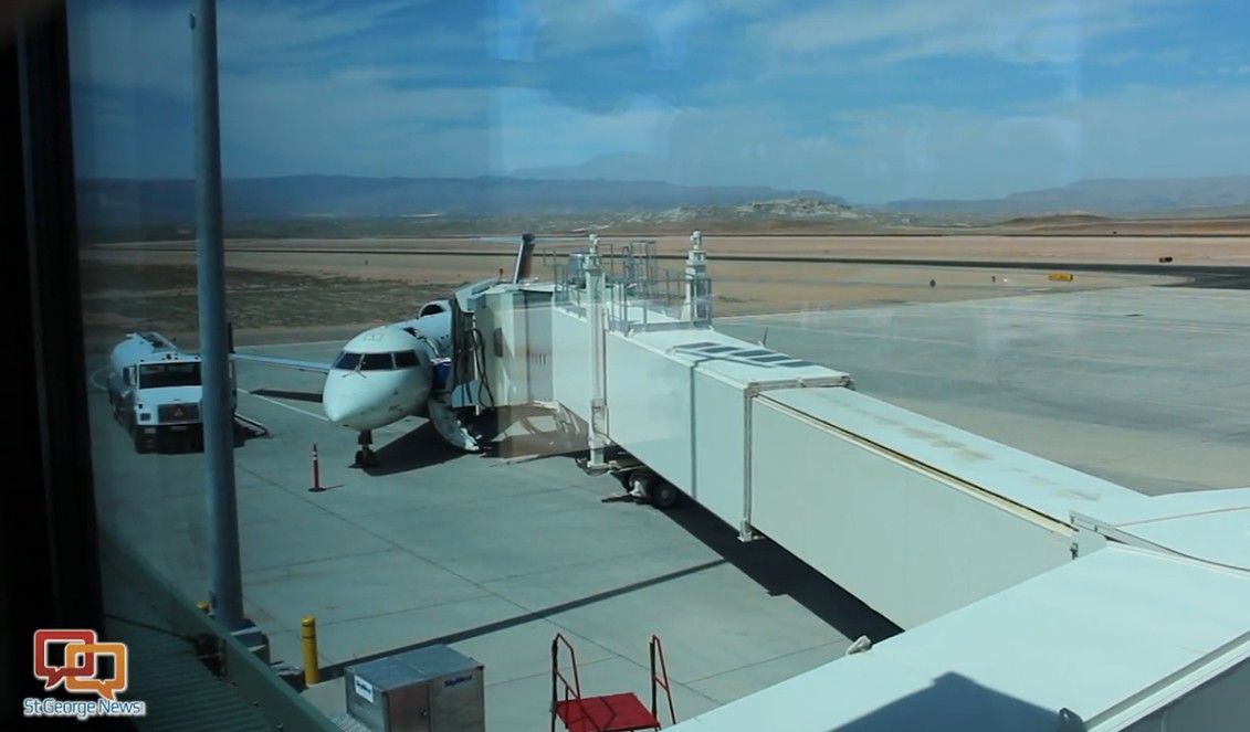 View from an observation lounge at the St. George Regional Airport, St. George, Utah, June 23, 2015 | Photo by Sheldon Demke, St. George News