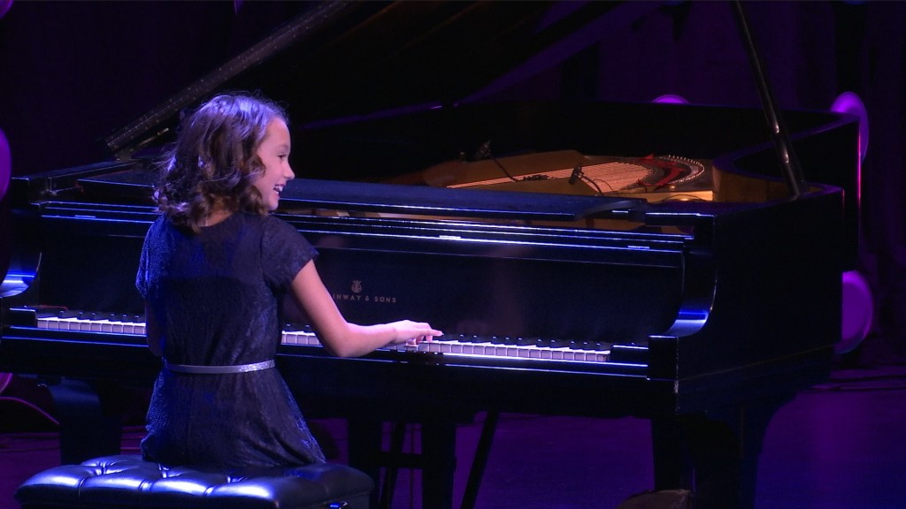 "Ayla VanLehn plays piano at the sixth annual ""Dixie's Got Talent"" finale show, St. George, Utah, January 21, 2016 