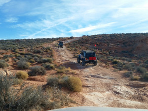West Rim Lite trail at the Winter 4x4 Jamboree, Hurricane, Utah, Jan. 23, 2015 | Photo courtesy Desert RATS, St. George News