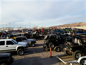 Winter 4x4 Jamboree participants line up for trails, Hurricane, Utah, Jan. 23, 2015 | Photo courtesy Desert RATS, St. George News