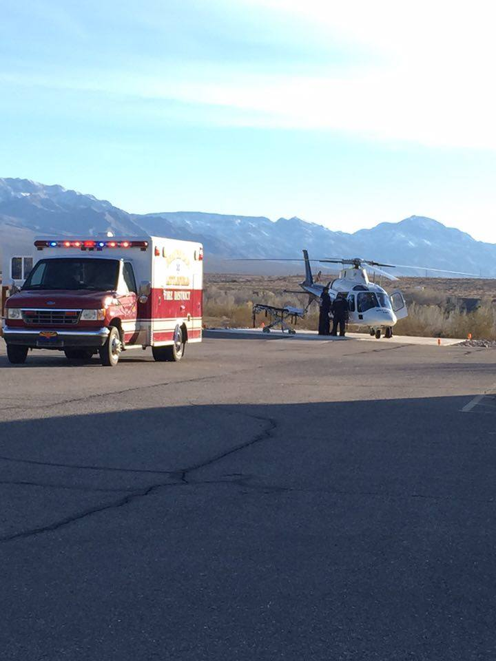 A man is taken by helicopter from an ATV accident, St. George, Utah, Jan. 12, 2016 | Photo courtesy of Jeff Hunt, St. George News