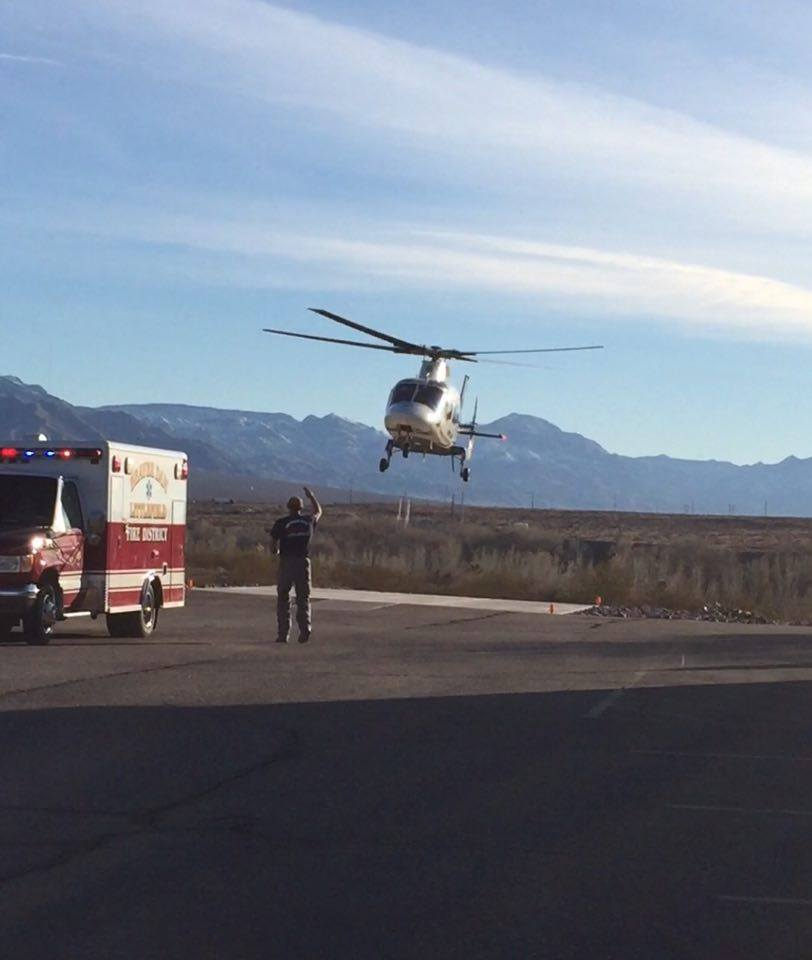 A man is taken by helicopter from an ATV accident, date, location | Photo courtesy of Jeff Hunt, St. George News