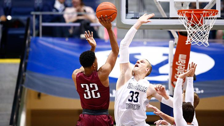 Nate Austin saved the game against Gonzaga. | Photo courtesy BYU Athletics