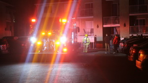 Firefighters responded to a potential structure fire that resulted in the evacuation one of the building at the Avalon Apartments complex at 333 S. 1000 East, St. George, Utah, Jan. 11, 2016 | Photo by Mori Kessler, St. George News