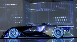 The FFZero1 by Faraday Future is displayed at CES Unveiled, a media preview event for CES International Monday, Jan. 4, 2016, in Las Vegas. The high performance electric concept car was unveiled during a news conference by Faraday Future | AP Photo/Gregory Bull, St. George News
