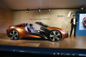 BMW board member Klaus Froehlich introduces the BMW i Vision Future Interaction concept car during a news conference at CES Press Day at CES International, Tuesday, Jan. 5, 2016, in Las Vegas | AP Photo/John Locher, St. George News