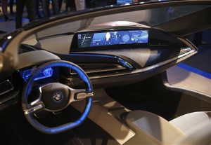 The dashboard of the BMW i Vision Future Interaction concept car is on display during a news conference at CES Press Day at CES International, Tuesday, Jan. 5, 2016, in Las Vegas | AP Photo/John Locher, St. George News