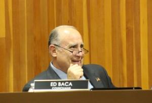 Councilman Ed Baca, at his seat on the St. George City Council, St. George, Utah, Jan. 7, 2016   Photo my Mori Kessler, St. George News