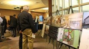 A display showing the plans and design concepts of the new DIxie Applied Technology Campus to be built at the Ridge Top Complex, 2016 What's Up Down South Economic Summit, St. George, Utah, Jan. 14, 2016 | Photo by Mori Kessler, St. George News